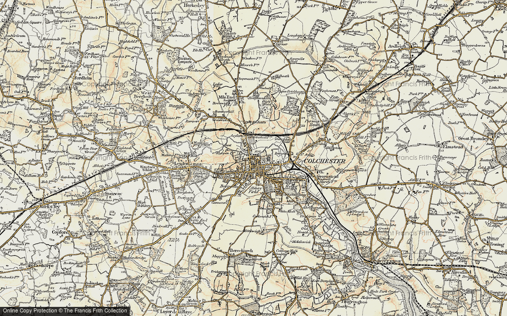 Old Maps of Colchester Francis Frith