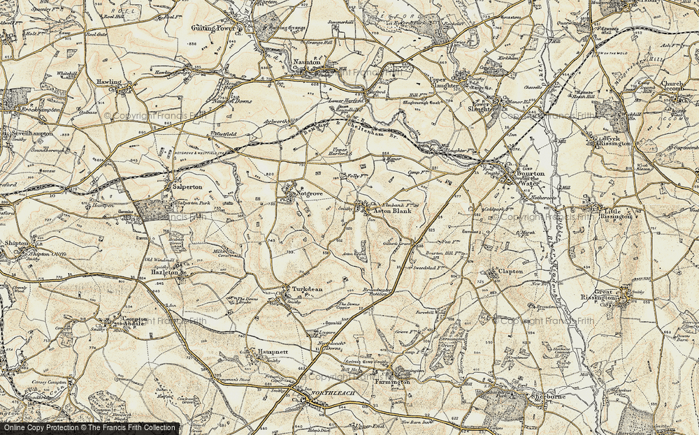 Old Map of Historic Map covering Aston Grove in 1898-1899