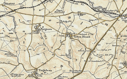 Old map of Aston Grove in 1898-1899
