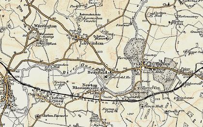 Old map of Cold Brayfield in 1898-1901