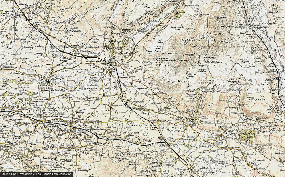 Old Map of Historic Map covering Whinney Mire in 1903-1904