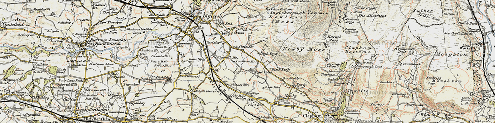 Old map of Whinney Mire in 1903-1904