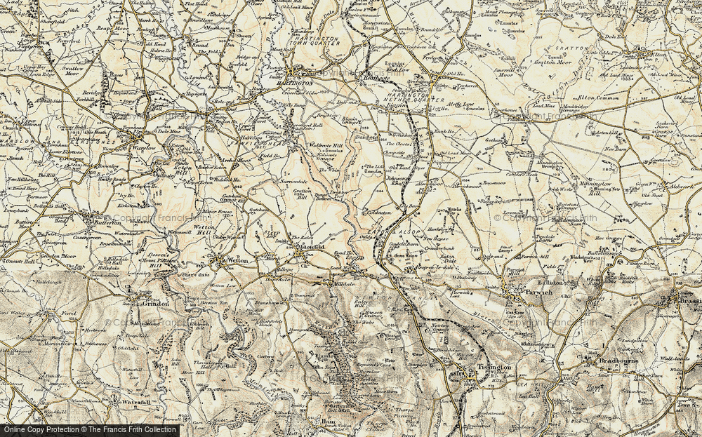 Old Map of Historic Map covering Liffs, The in 1902-1903