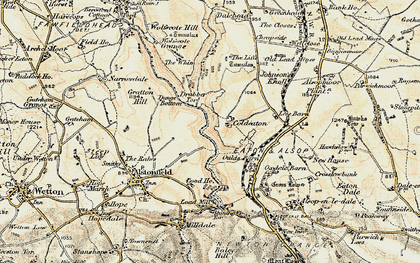 Old map of Whim, The in 1902-1903