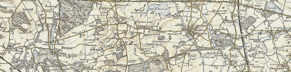 Old map of Whitemoor, The in 1902