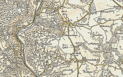Old map of Coldharbour in 1899-1900
