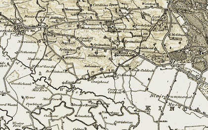 Old map of Ballingrew in 1904-1907