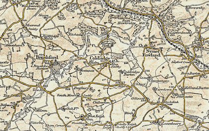 Old map of Aller Br in 1899-1900