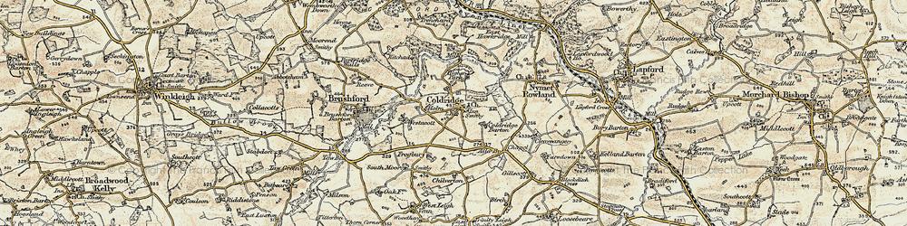 Old map of Aller Br in 1899-1900