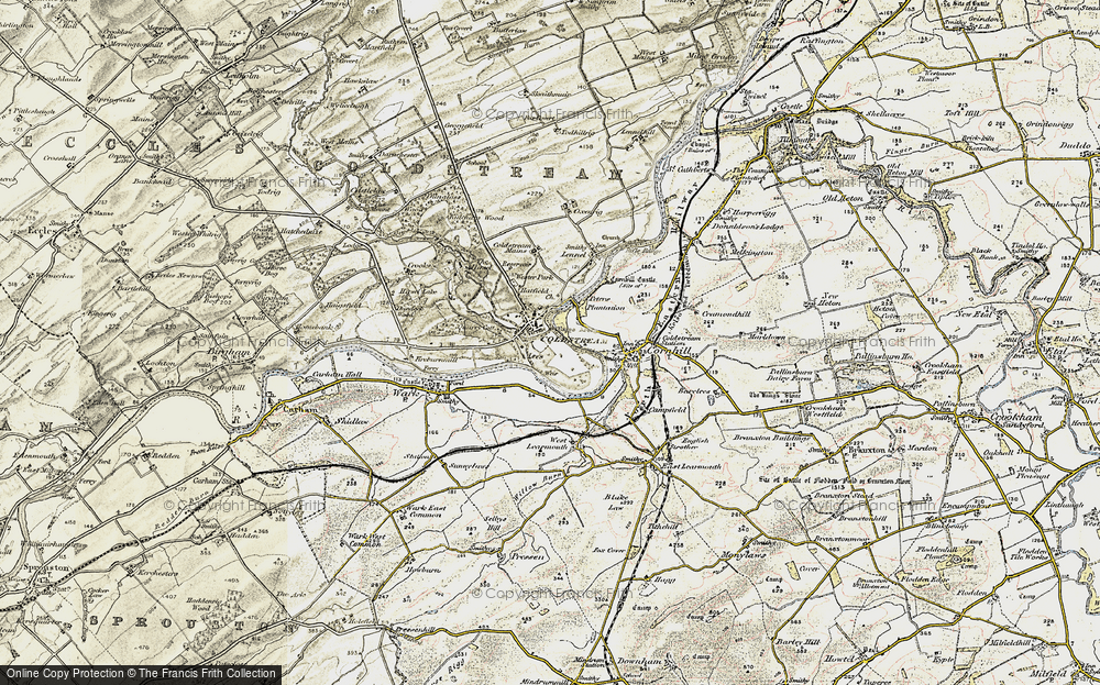 Old Map of Historic Map covering Lees in 1901-1904