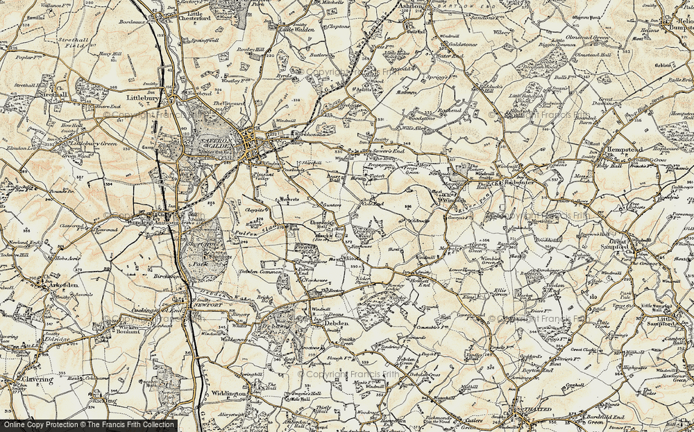 Old Map of Historic Map covering Abbots in 1898-1901