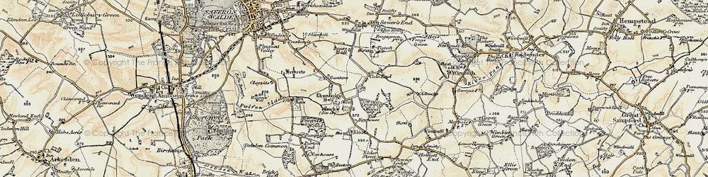Old map of Abbots in 1898-1901