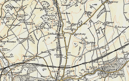 Old map of Whitnal in 1897-1900