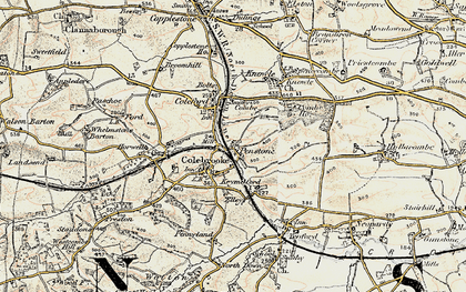Old map of Whelmstone Barton in 1899-1900