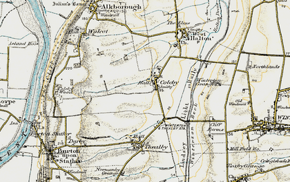 Old map of Coleby in 1903