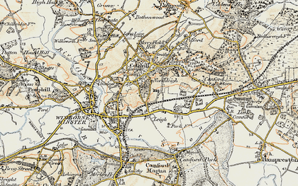 Old map of Colehill in 1897-1909