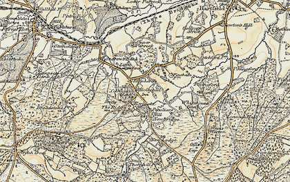 Old map of Coleman's Hatch in 1898