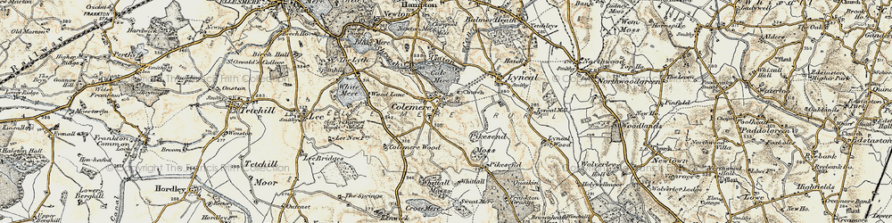 Old map of Colemere in 1902