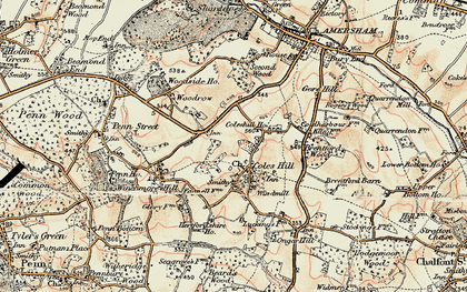 Old map of Coleshill in 1897-1898