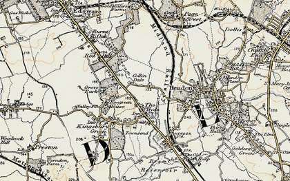 Old map of Colindale in 1897-1898