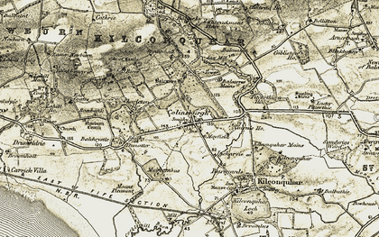 Old map of Balcarres Ho in 1903-1908