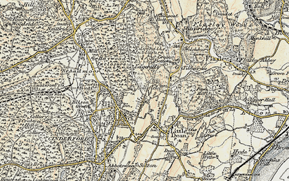 Old map of Collafield in 1899-1900