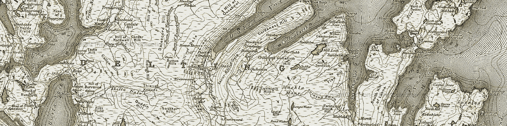 Old map of West Taing in 1912