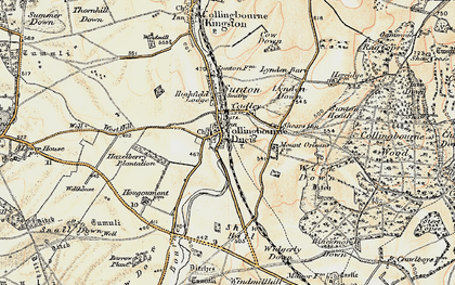 Old map of Windmillhill Down in 1897-1899