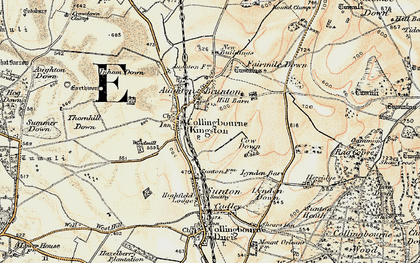 Old map of Collingbourne Kingston in 1897-1899