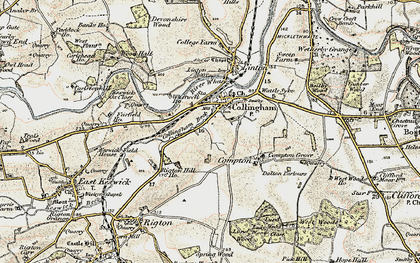Old map of Collingham in 1903-1904