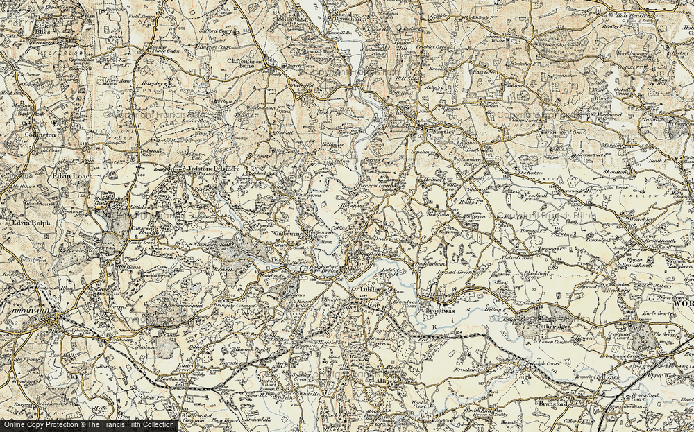 Old Map of Collins Green, 1899-1902 in 1899-1902