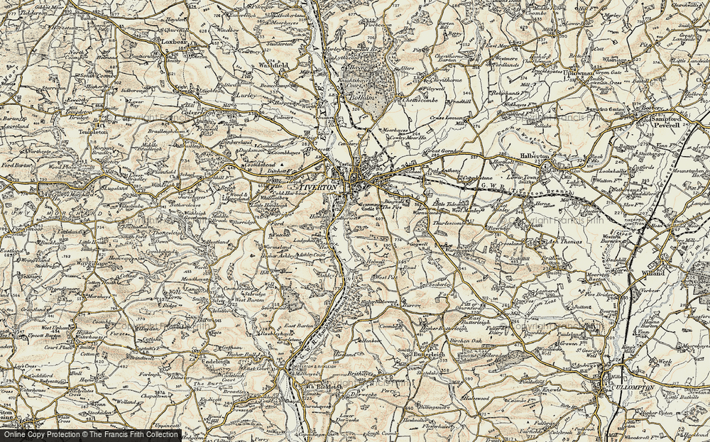 Old Map of Historic Map covering Ashley in 1898-1900