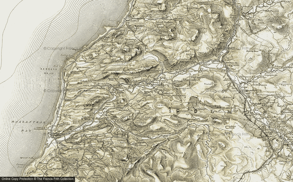 Old Map of Historic Map covering Leffin Donald in 1905
