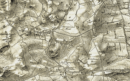 Old map of Wooplaw Ho in 1901-1904