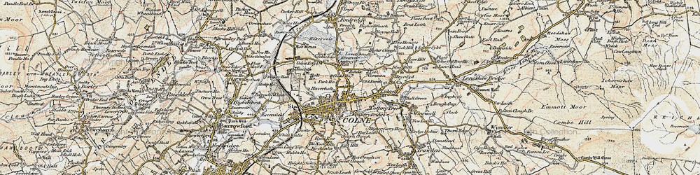 Old map of Law Hill in 1903-1904