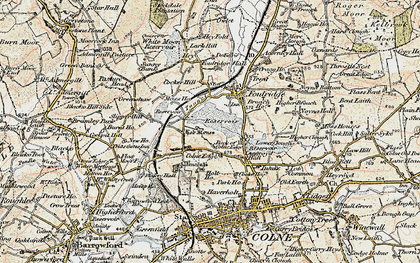 Old map of Alkincoats in 1903-1904
