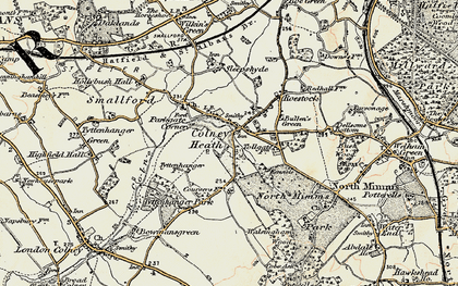 Old map of Colney Heath in 1897-1898