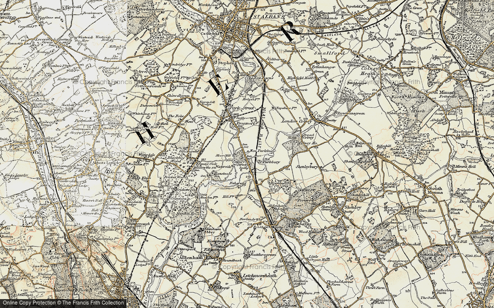 Old Map of Colney Street, 1897-1898 in 1897-1898