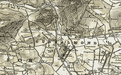 Old map of Woodside in 1908-1910
