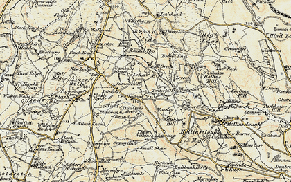 Old map of Axe Edge End in 1902-1903