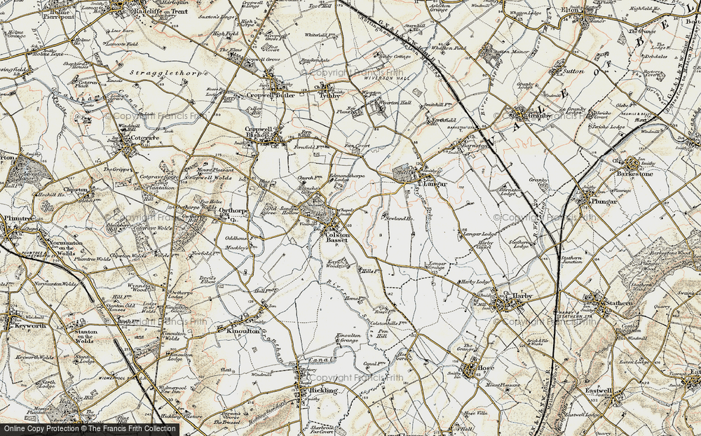 Old Map of Colston Bassett, 1902-1903 in 1902-1903