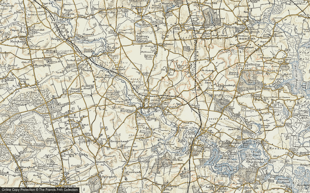 Old Map of Coltishall, 1901-1902 in 1901-1902