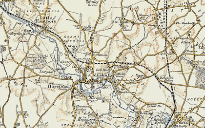 Old map of Coltishall in 1901-1902