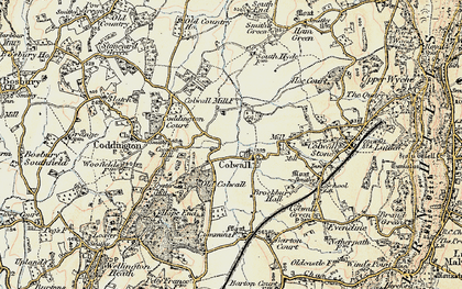 Old map of Colwall in 1899-1901