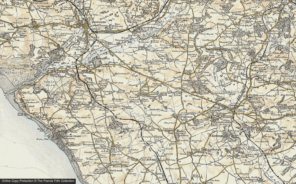 Old Map of Colwinston, 1899-1900 in 1899-1900