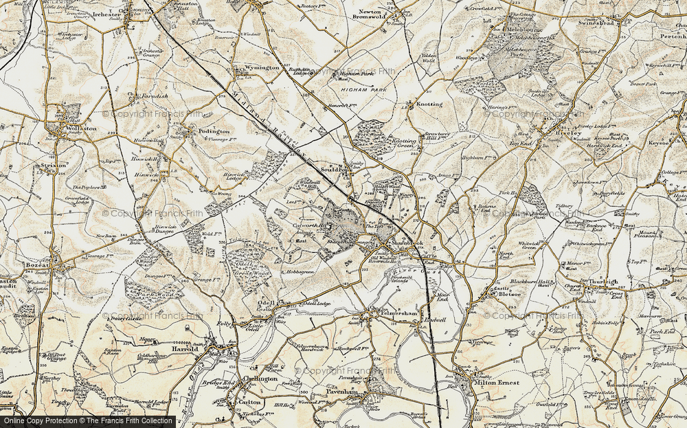Old Map of Historic Map covering Tofte Manor in 1898-1901