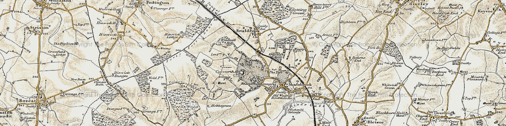 Old map of Tofte Manor in 1898-1901