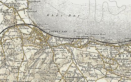 Old map of Colwyn Bay in 1902-1903