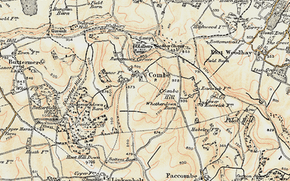 Old map of West Woodhay Down in 1897-1900