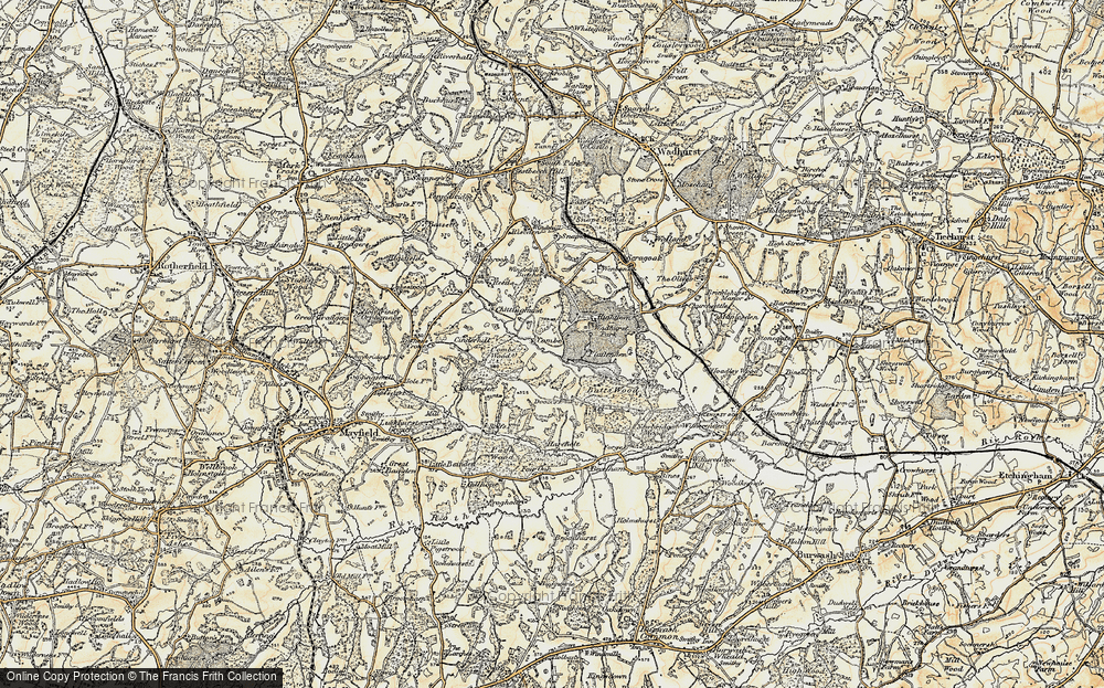 Old Map of Historic Map covering Wadhurst Park in 1898